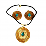 Necklace and Earring Set - Blue Stone (CDP)