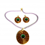 Necklace and Earring Set - Green Stone(CDP)