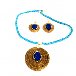 Necklace and Earring Set - Mandala - Blue - S (CDP)