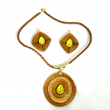 Necklace and Earring Set - Yellow Stone(CDP)