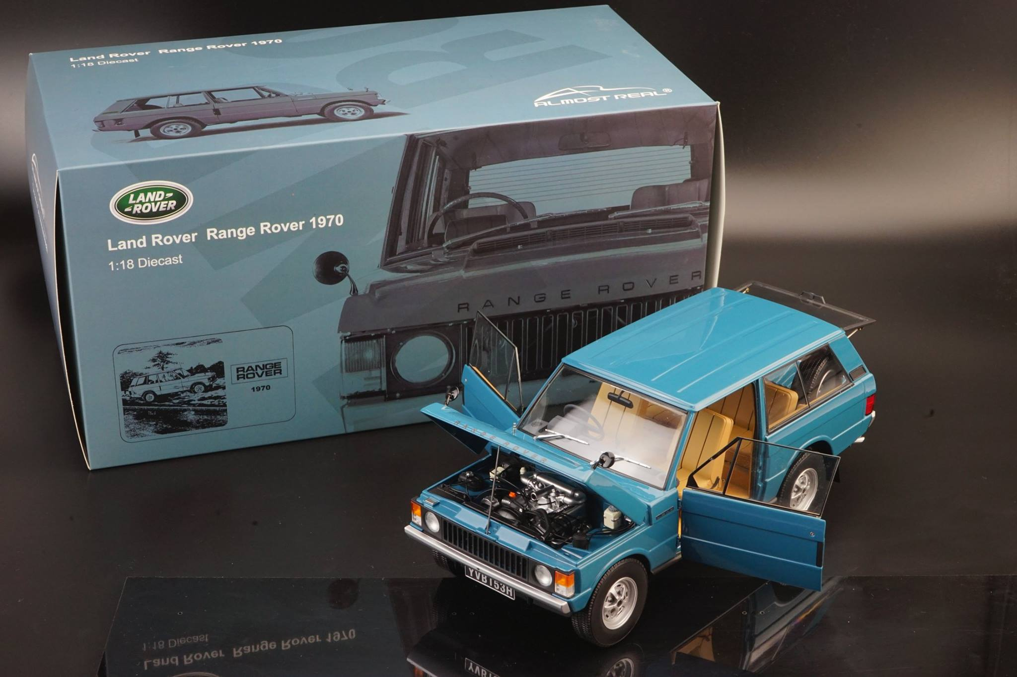 Almost Real - Range Rover - 1970 - Tuscan Blue 1/18