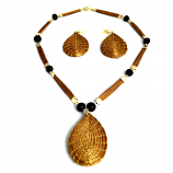 Necklace and Earrings Set - Drop-(RI)
