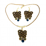 Necklace and Earring Set - Blue(CDP)