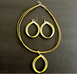 Necklace and Earrings Set- CDJ