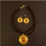 Necklace and Earrings Set- Sun Stone (CDJ)
